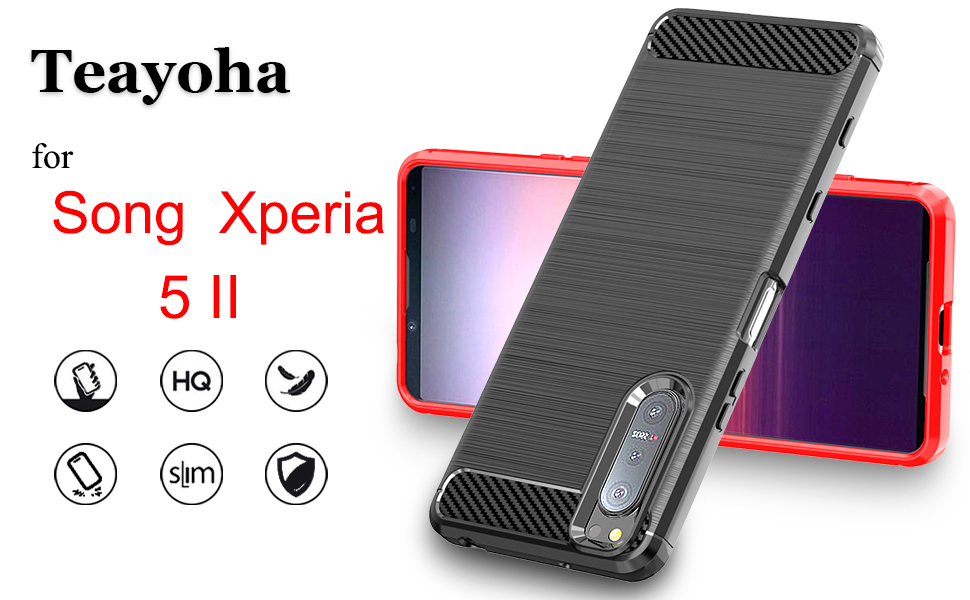 Song Xperia 5 II case with tempered glass screen protector