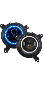 jeep blue headlight for jl