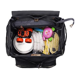 Hafmall diaper bag, large diaper backapck, black