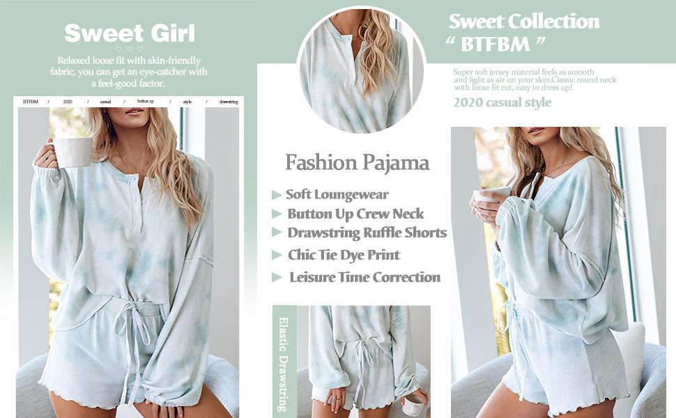 women long sleeve pajamas
