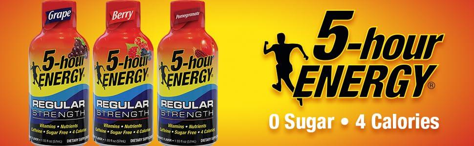Energy shot drink regular strength 5hour