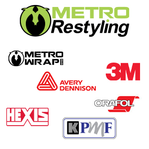 MetroRestyling, Avery Dennison, 3M, Hexis, KPMF, Orafol, Oracal, Metro Wrap Series, Metro Restyling