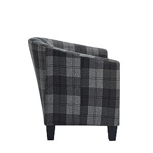 Tub chairs grey Dark grey tub chairs Tub barrel chair
