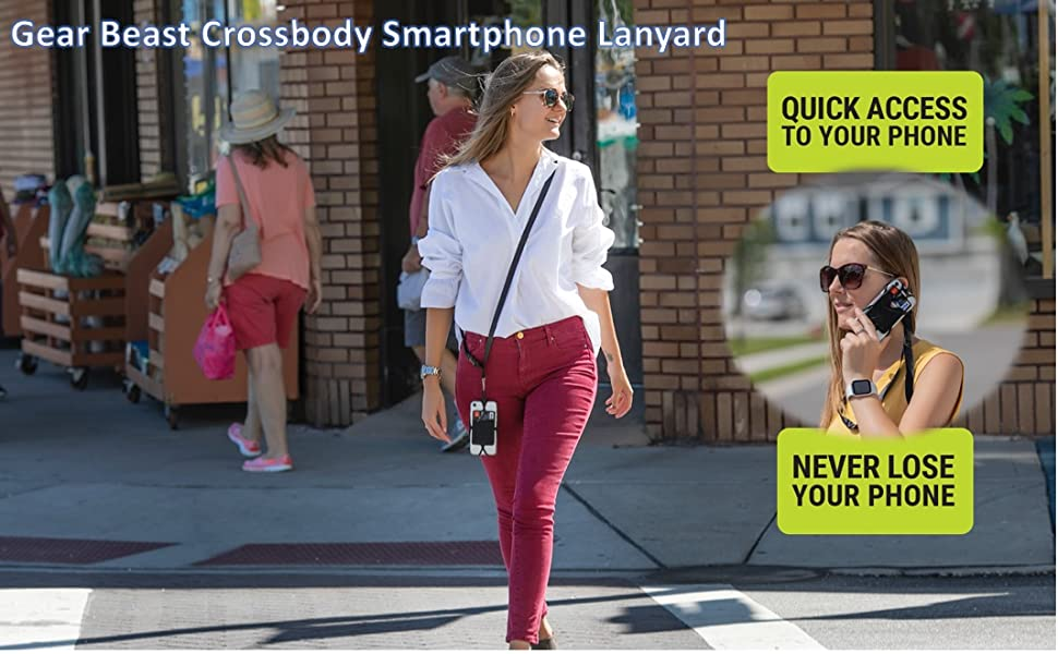 crossbody phone lanyard