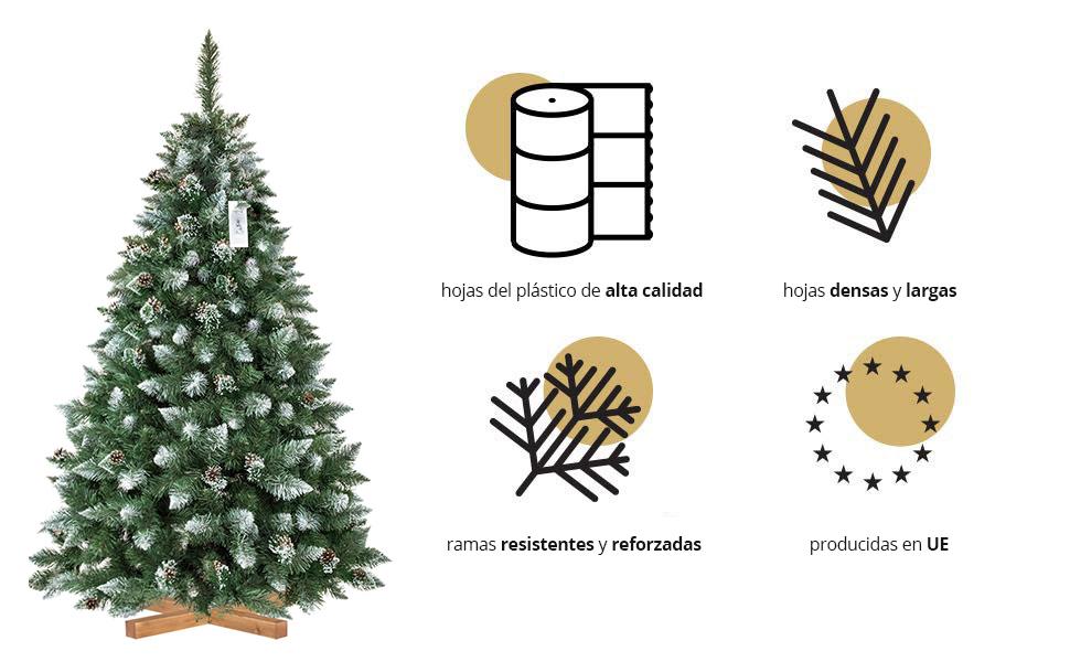 Árbol navideño artificial Pino Natural Blanco nevado de colección 2018 FairyTrees