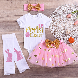 Baby Easter Outfit Knotted Gown Tie Baby Gown Happy Easter Outfit Girl Easter Clothes Easter Bunny Baby Shower Gift Newborn Gift Liv /& Co.\u2122