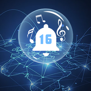 16 ringer melody selectable