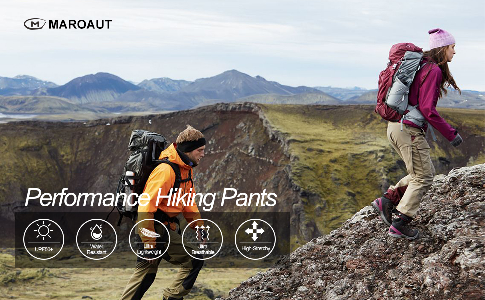 Women's Cargo Hiking Pants Lightweight Joggers Quick Dry Water Resistant UPF 50+ with Zipper Pockets