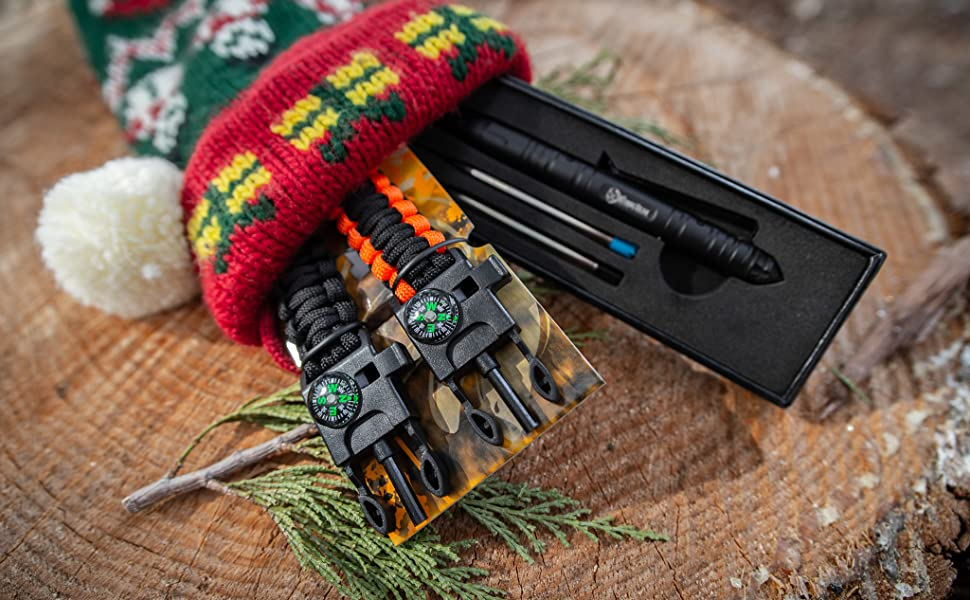 survival gear bracelets tactical camping hiking fishing hunting stocking stuffers gifts