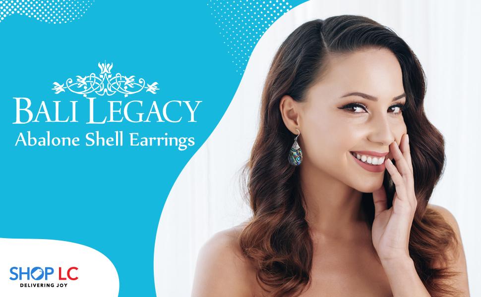 BALI LEGACY Abalone Shell Earrings in Sterling Silver