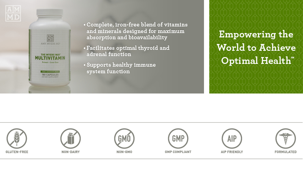 Iron free blend of vitamins and minerals designed for maximum absoption and bioavailability