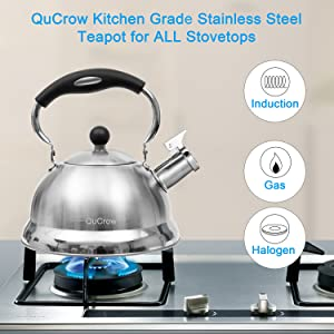 whistling tea kettles stovetop, induction tea kettle, stainless tea kettle,cuisinart tea kettle