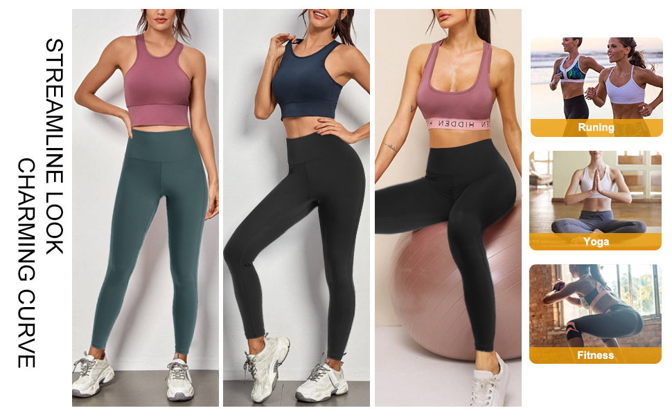 Tummy Control Workout Leggings for Athletic