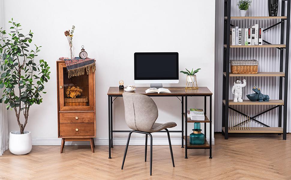 office computer desk table storage shelves