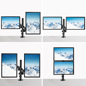 vesa mount monitor stand monitor arm double monitor stand monitor desk mount 27 inch