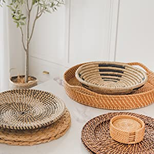 hanging woven wall basket