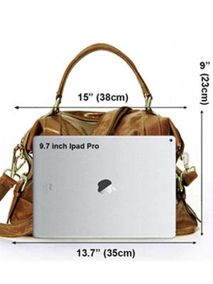 La Poet Women's Waxed Cowhide Hobo Satchel Shoulder Bag
