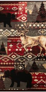 bear deer rug