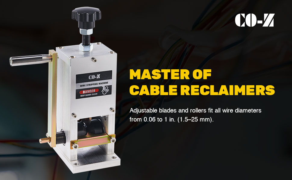 CO-Z Manual Scrap Wire Stripping Machine Copper Wire Peeler Machine Scrap Cab...