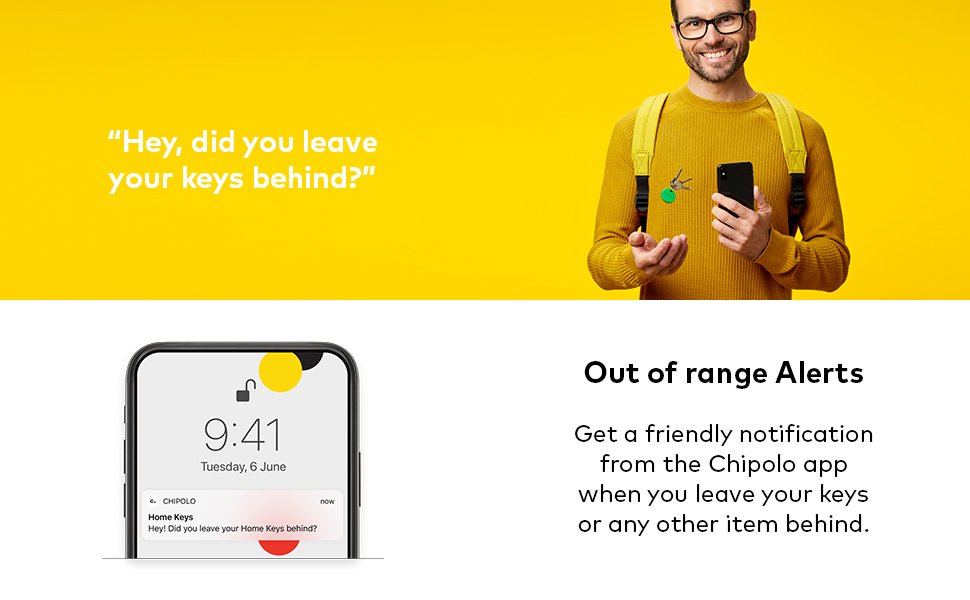 chipolo one out of range alerts free