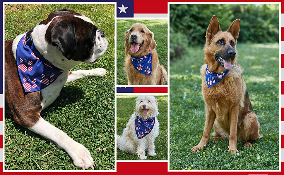 american flag bandanas 4th of july dog bandana usa fourth summer accessories