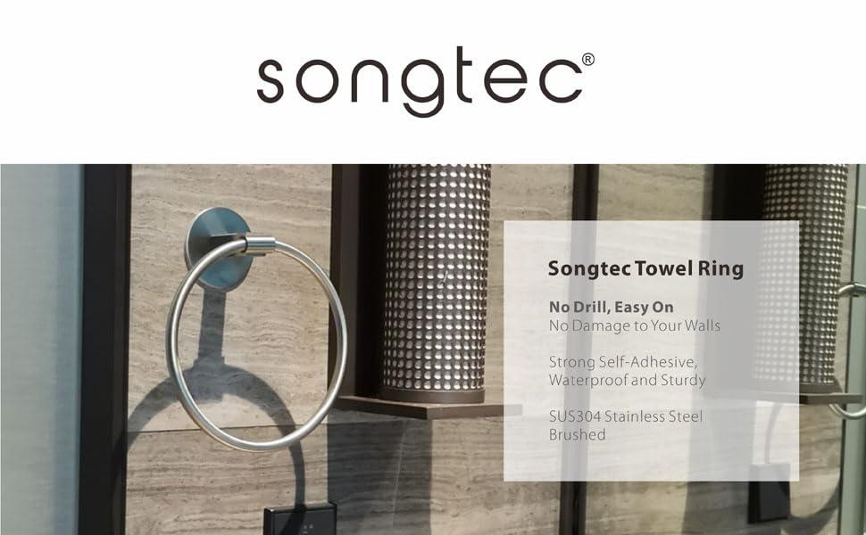 self adhesive towel bar no drill stick on