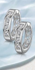 Cerchi in argento zirconia