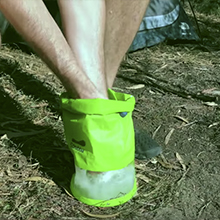 water bucket camping hiking