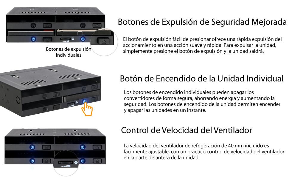 Icy Dock flexiDOCK MB524SP-B - Cuatro bahías SAS/SATA HDD/SSD 2.5 ...