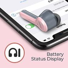 Bluetooth headphones pink girl women usb-c CVC8.0 microphone airpods earphones in ear phone