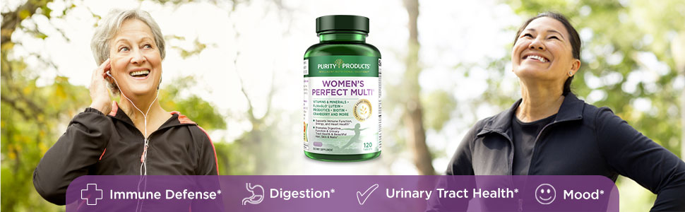 womens women's perfect multi purity products 50+ 40+ multivitamin urinary immune health bones heart