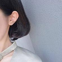 cubic zirconia cuff earrings
