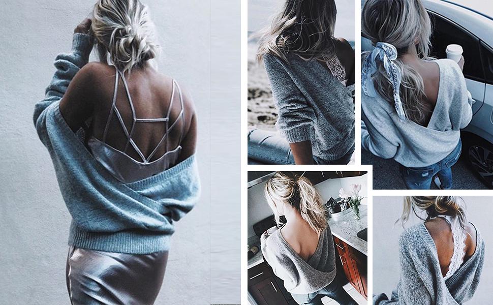 women wrap sweaters fit jumper plus size deep v neck sweater plaid wrap sweater wrap front knit top