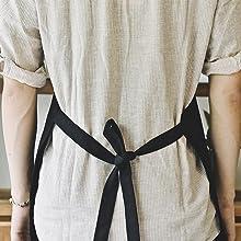 Adjustable 30 Inch Waist Tie APRONS black