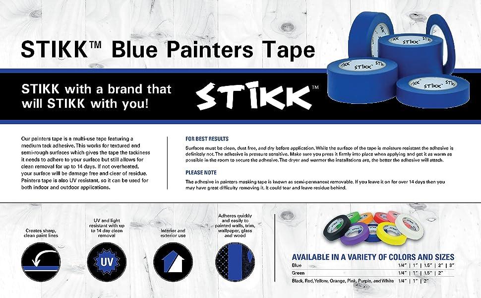 STIKK Blue painters tape product details and description page
