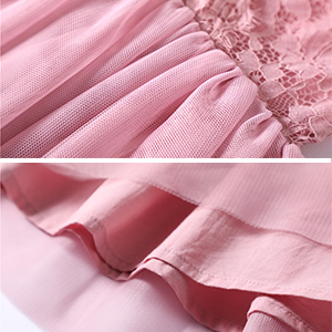 Lace and tulle. Lined with soft cotton cloth