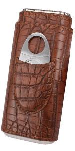 Elegant Vintage Crocodile cigar case