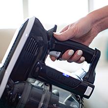 push to start, one click start, click start, lite vacuum, hand held vacuum, light weight vacuum