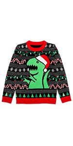 Trex Ugly Christmas Sweater Dinosaur Dino