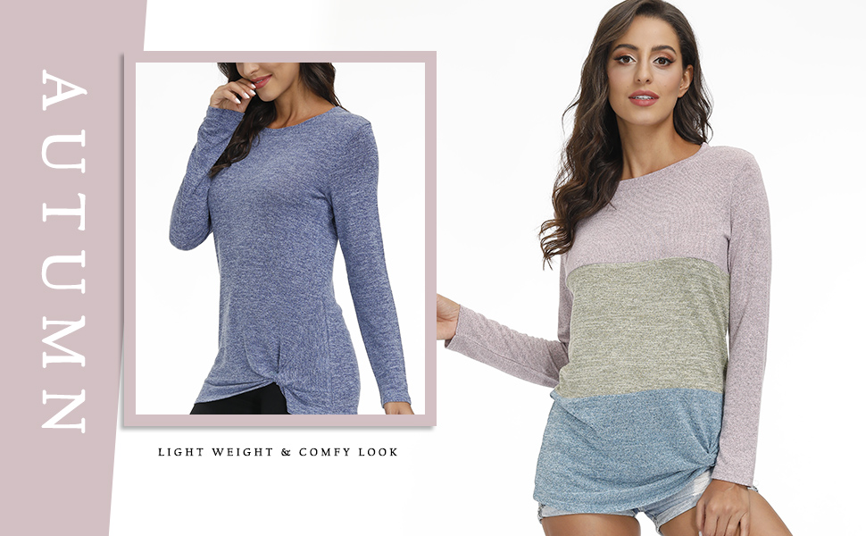 women tunic tops color blocks blouses fashion t shirts off shoulder tops lightweight comfy