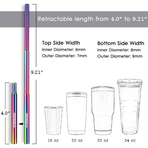 Collapsible Straws with Case