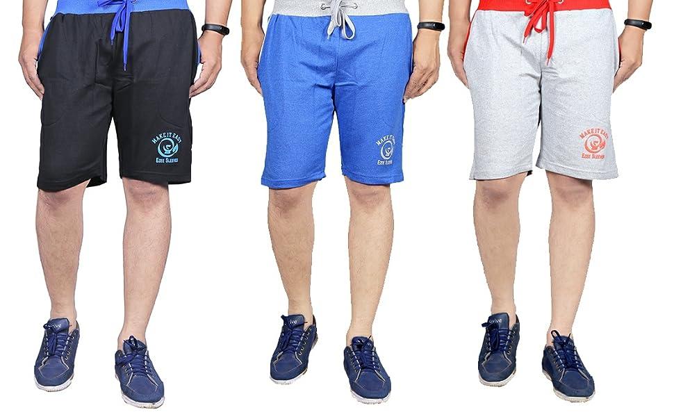 Ezee Sleeves Combo Boxers Shorts of 3