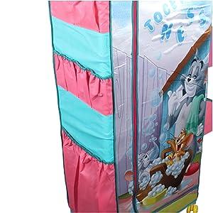Tom & Jerry FC5ST1 Fun Closet 5 Shelf Folding Wardrobe, X-Large, Green