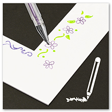 pen drawing coloring on the white mat design