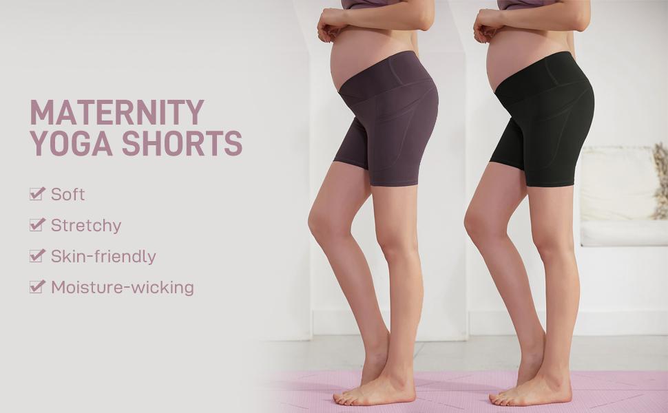 Maternity Low Rise Yoga Shorts
