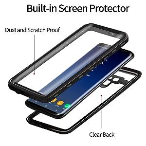 built-in screen protector