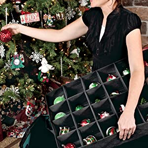 Amazon Com Treekeeper Green Christmas Ornament Storage