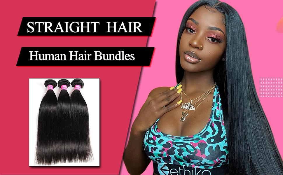 VRBest Straight Human Hair 3 Bundles