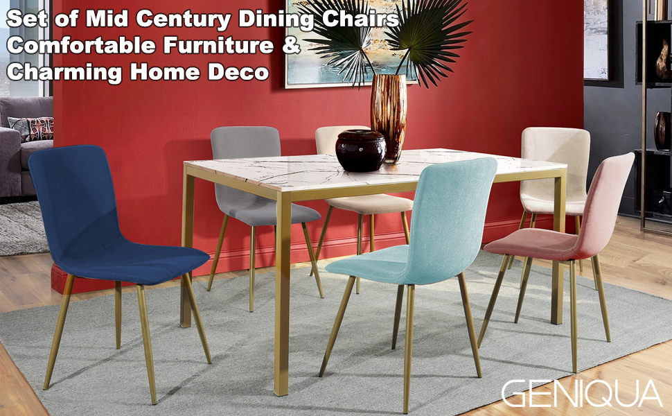 Fabric Dining Chair Kitchen Home Furniture Wooden Dining Set Table Chair