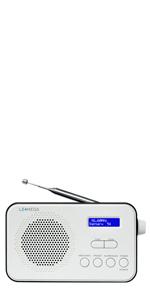 pocket dab radio portable dab+ fm digital radio sports portable built-in aerial earphones